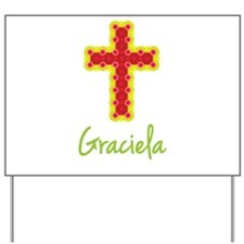 Graciela Bubble Cross Yard Sign