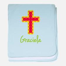 Graciela Bubble Cross baby blanket