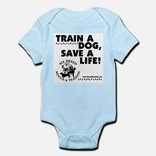 Train a dog, Save a Life! Infant Creeper