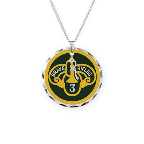 3rd Armored Cavalry Necklace Circle Charm