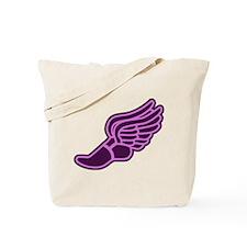 Pink & Purple Track Foot Tote Bag