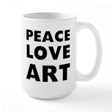 Peace Art 15 oz Ceramic Large Mug