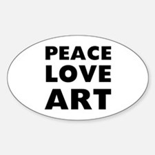 Peace Art Sticker (Oval)