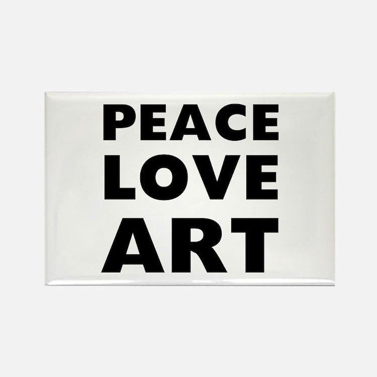 Peace Art Rectangle Magnet