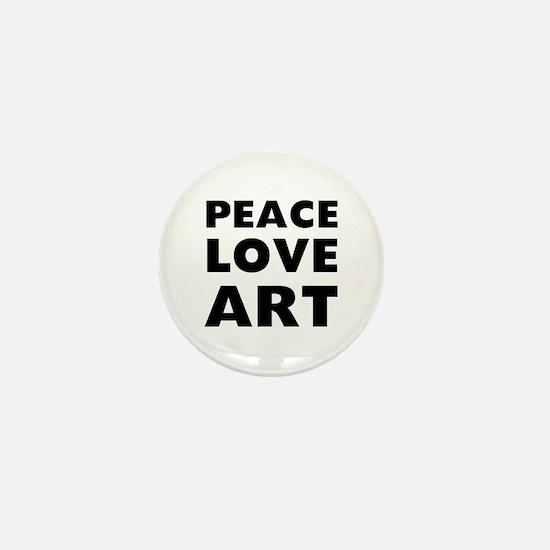Peace Art Mini Button
