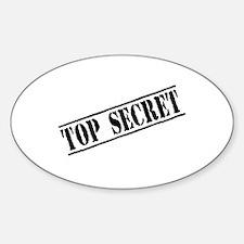Top Secret Sticker (Oval)