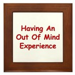 Out Of Mind Experience Framed Tile