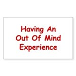 Out Of Mind Experience Sticker (Rectangle)