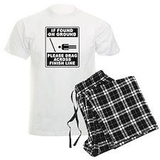 Drag Across Finish Line pajamas