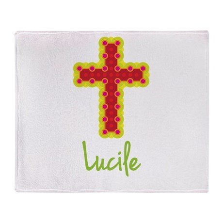 Lucile Bubble Cross Throw Blanket