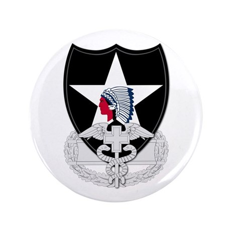 """2nd Infantry CFMB 3.5"""" Button"""