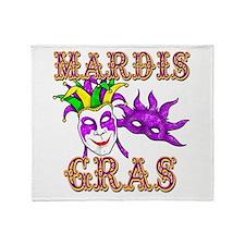 Mardis Gras Throw Blanket