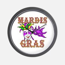 Mardis Gras Wall Clock