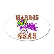 Mardis Gras 22x14 Oval Wall Peel