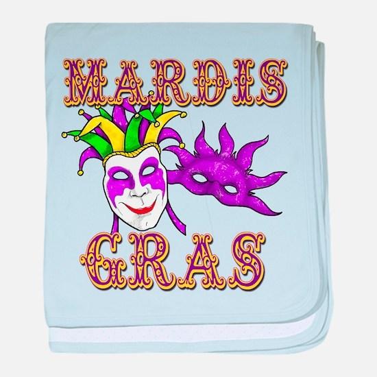 Mardis Gras baby blanket