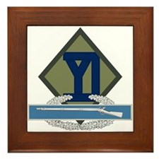 26th Infantry CIB Framed Tile