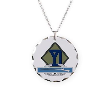 26th Infantry CIB Necklace Circle Charm