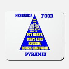 Nebraska Food Pyramid Mousepad
