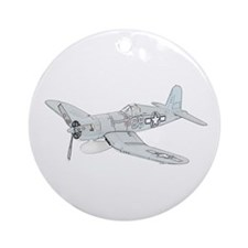 Vought F4U Corsair Ornament (Round)