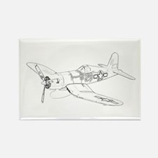 Vought F4U Corsair Rectangle Magnet