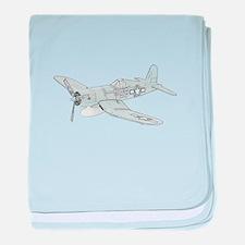 Vought F4U Corsair baby blanket