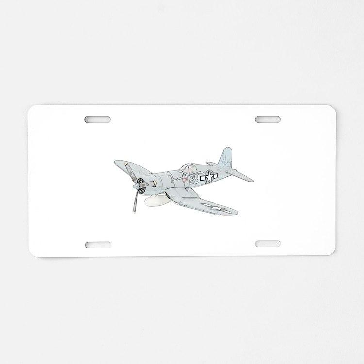 Vought F4U Corsair Aluminum License Plate