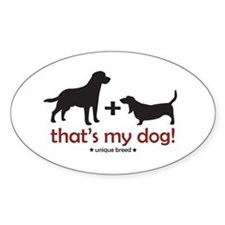 Lab/Basset Oval Decal