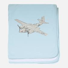 Douglas A-26 Invader baby blanket