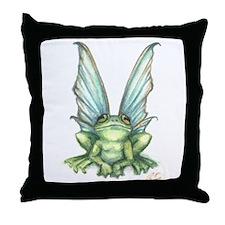 Fairy Frog Throw Pillow