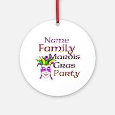 Customizable Mardi Gras Ornament (Round)
