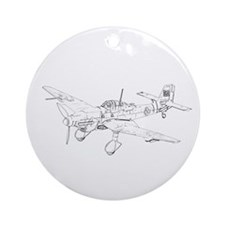 Junkers Ju 87 Stucka Ornament (Round)