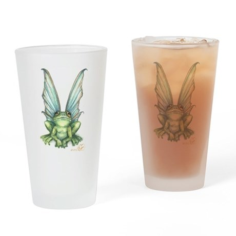 Fairy Frog Drinking Glass