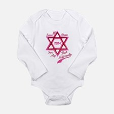 Bat Mitzvah Girl Long Sleeve Infant Bodysuit