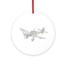 Junkers Ju 87 Stucka Ornament (Round)