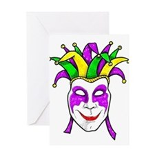 Mardis Gras Mask Greeting Card