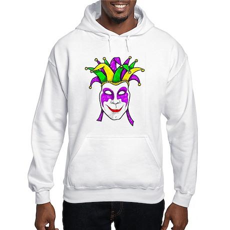 Mardis Gras Mask Hooded Sweatshirt