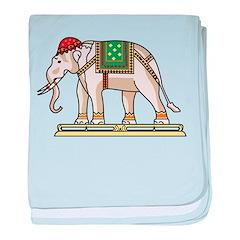 Siam Elephant Flag baby blanket