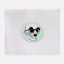 Groucho Skull Throw Blanket