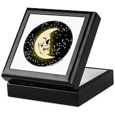 Black Moon Skull Keepsake Box