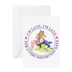 I'm Late, I'm Late! Greeting Card