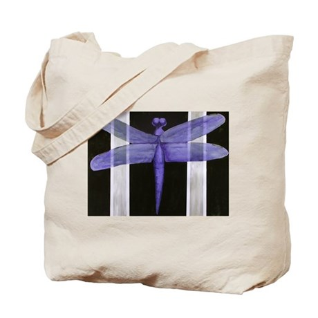 Purple Dragonfly Tote Bag