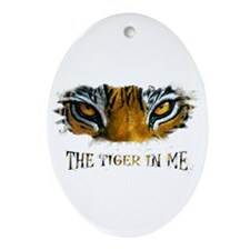 the tiger in me Ornament (Oval)