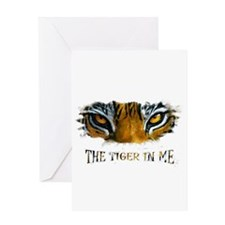 the tiger in me Greeting Card
