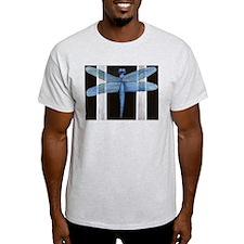 Blue Dragonfly Ash Grey T-Shirt