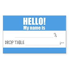 Writable SQLi Name Tag Decal