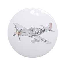 North American P-51 Mustang Ornament (Round)