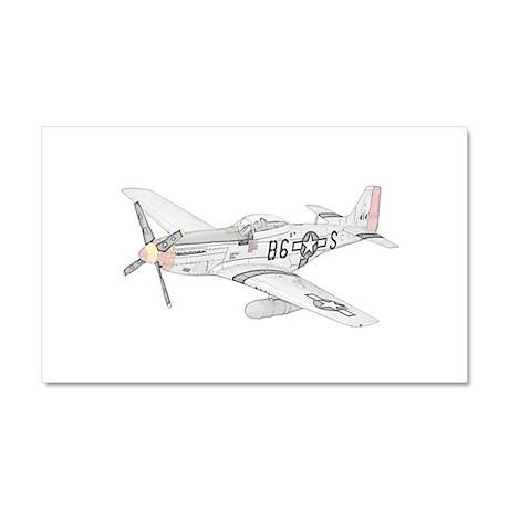 North American P-51 Mustang Car Magnet 20 x 12