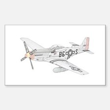 North American P-51 Mustang Sticker (Rectangle)