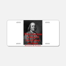 Ben Franklin: Keeping a Secre Aluminum License Pla
