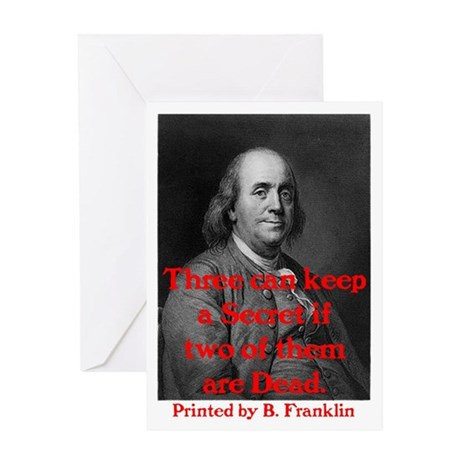 Ben Franklin: Keeping a Secre Greeting Card